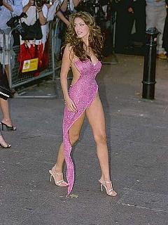 Kelly Brook sideboob and ass slip in slutty dress