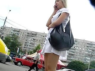 G-string up white dress