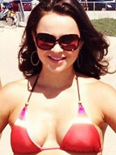 Hot compilation of sexy lovely Sasha Cohen personal bikini pics
