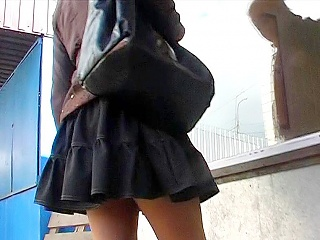 Up skirt of stylish young girl