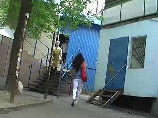 Hot ass in white leggins
