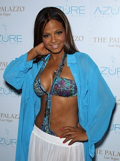 Christina Milian in End of Summer Party at Azure Luxury Pool in Las Vegas