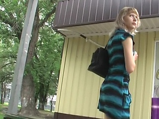 View up striped dress