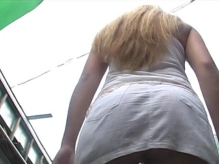 Mesmerizing ass upskirt