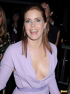 Picture compilation of gorgeous Amy Adams busting out of her dress