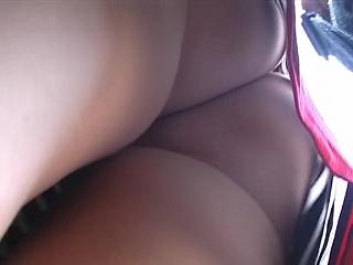 Upskirt naked ass hot tease on my camera