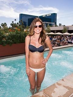 Hot collection of Audrina Patridge sexy bikini candids at Wet Republic
