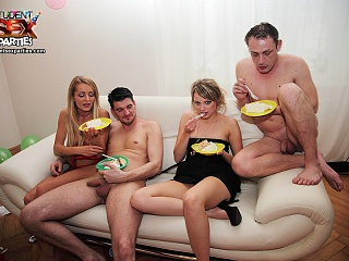 Hot college party with sexy babes