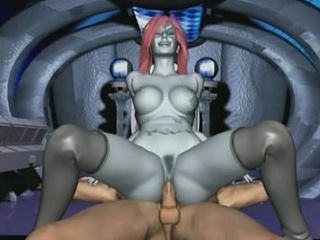 Android girl rides partner's rod in reverse