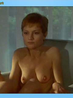 Isabelle Huppert has a nice fluffy muff and perky little tits