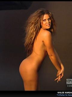Khloe Kardashian takes it off for a nude bathtub shoot